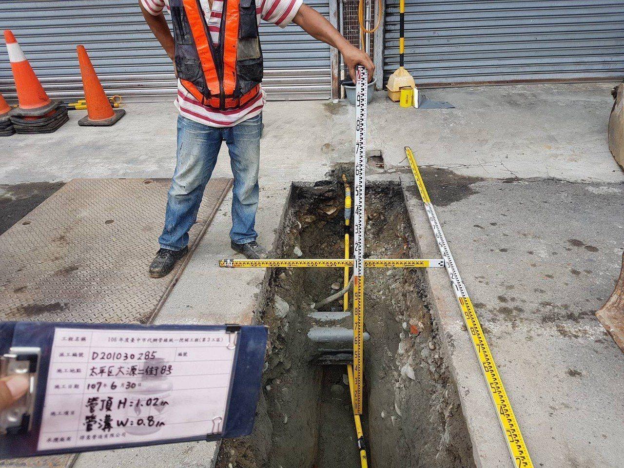 台中市建置3D公共管線圖資系統,能掌握各種管線設施分布。 圖/台中市建設局提供