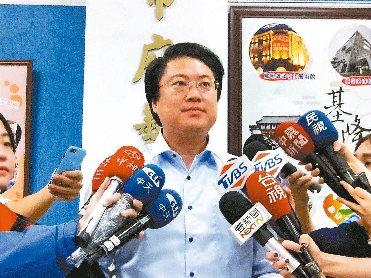 針對北北基昨天放颱風假不同調,基隆市長林右昌昨天出面說明,指前晚決定過程是一個很...