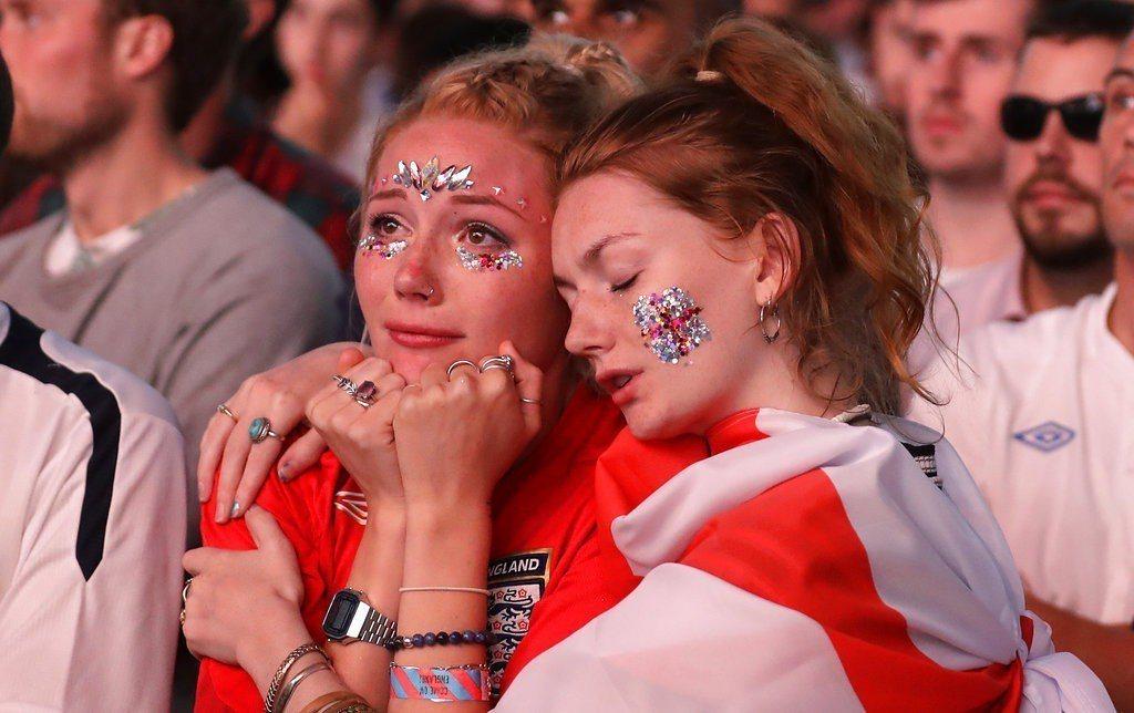 差一步就能進決賽,英格蘭球迷做了一場好夢。 美聯社