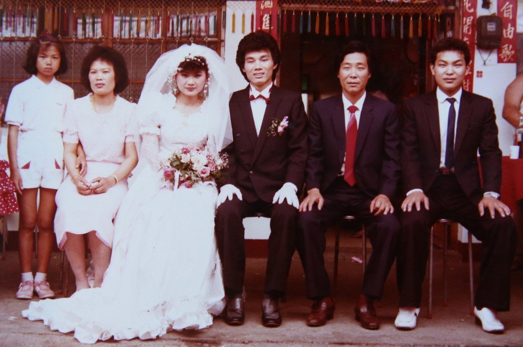 陳雷退伍不久即結婚。圖/陳雷提供
