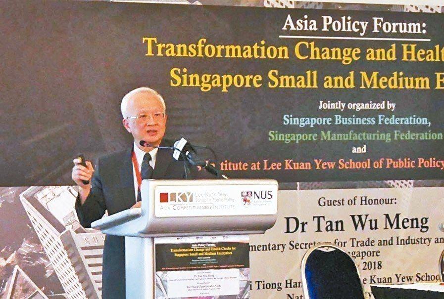 第一銀行董事長董瑞斌赴新加坡演講,暢談銀行在基礎建設投資所扮演的角色。 第一銀行...