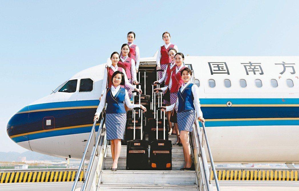 中航、南航、東航與海航等四大航空集團「運輸總周轉量」就占全行業的86.8%。圖為...