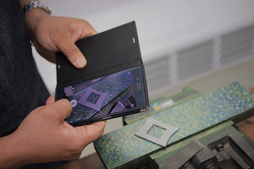 精機中心研發鏟花參數檢測APP,利用智慧型手機等手持裝置,拍攝擷取鏟花面的影像,...