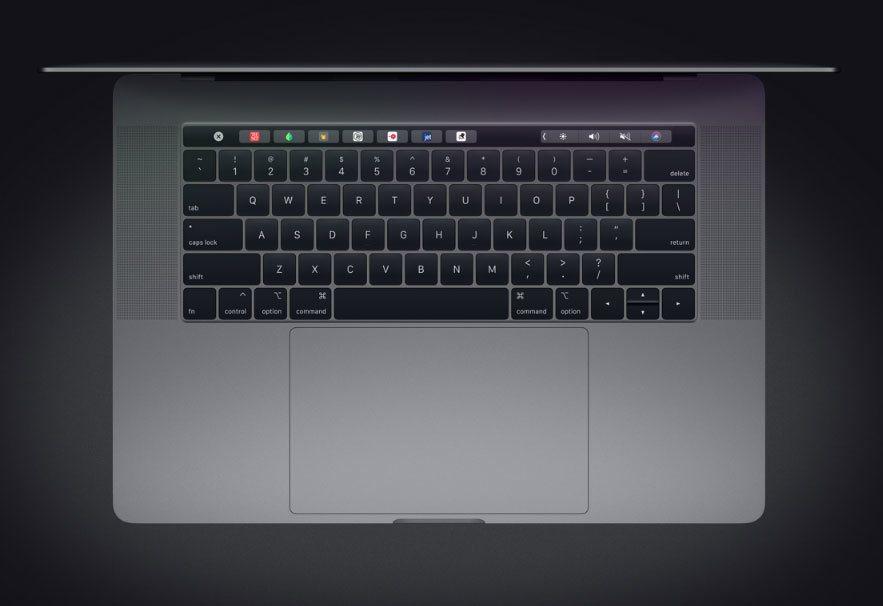 MacBook Pro 採用蝶式結構的鍵盤,提供較傳統剪刀式結構高出四倍的按鍵穩...
