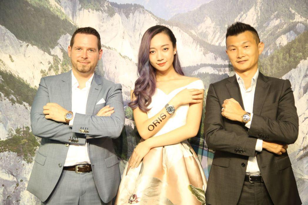 ORIS豪利時台灣分公司總經理 David Weber(左起)、創作小天后-吳卓...