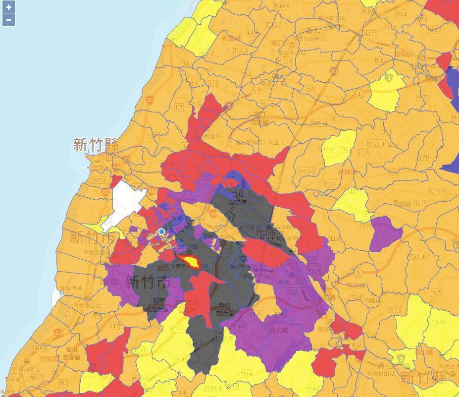 「年輕、多金」的城市是什麼樣子?「台灣所得地圖」告訴你!圖擷自見域 Citile...