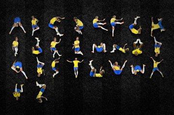 內馬爾假摔動作化成26個字母 網友讚設計師太有才了