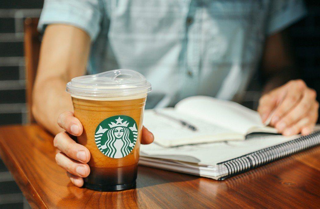 星巴克目前正在研究塑膠吸管的替代方案,改良過的杯蓋是其中一個選項。圖/翻攝星巴克...