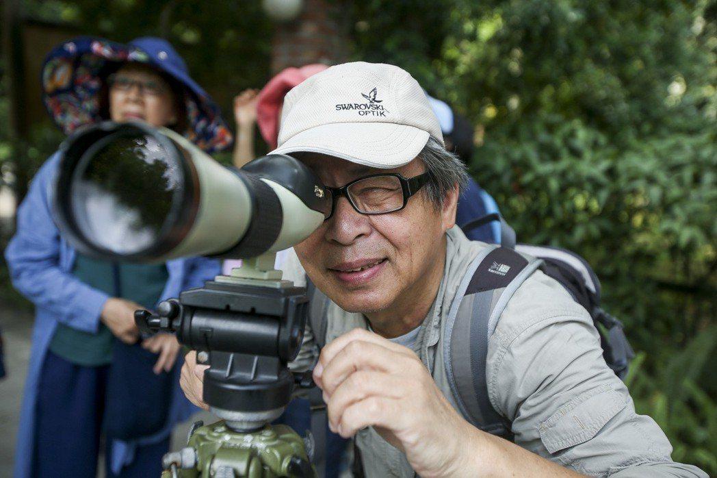 願景世代專題,賞鳥導遊許長生的第二人生。記者楊萬雲/攝影