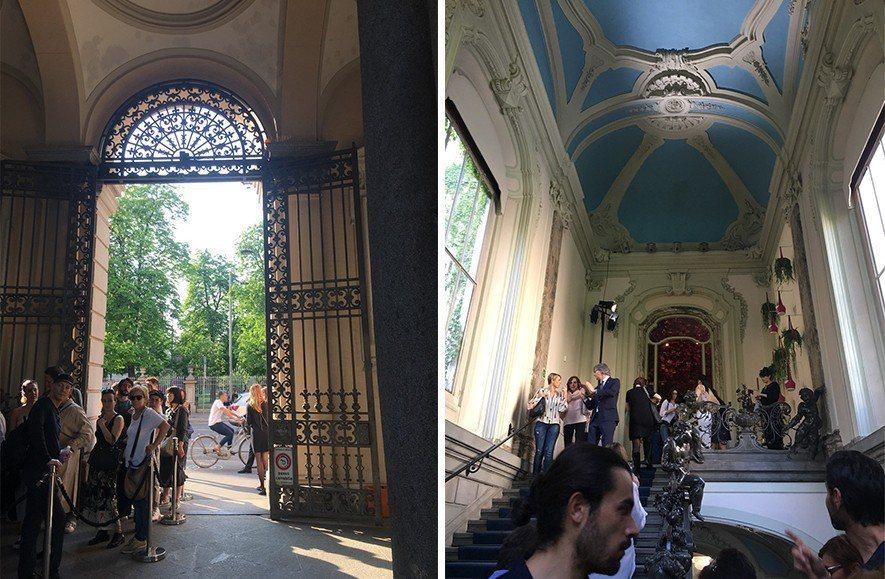 (圖)LV的會外展區位於米蘭威尼斯大街具新古典主義風格的博科尼宮