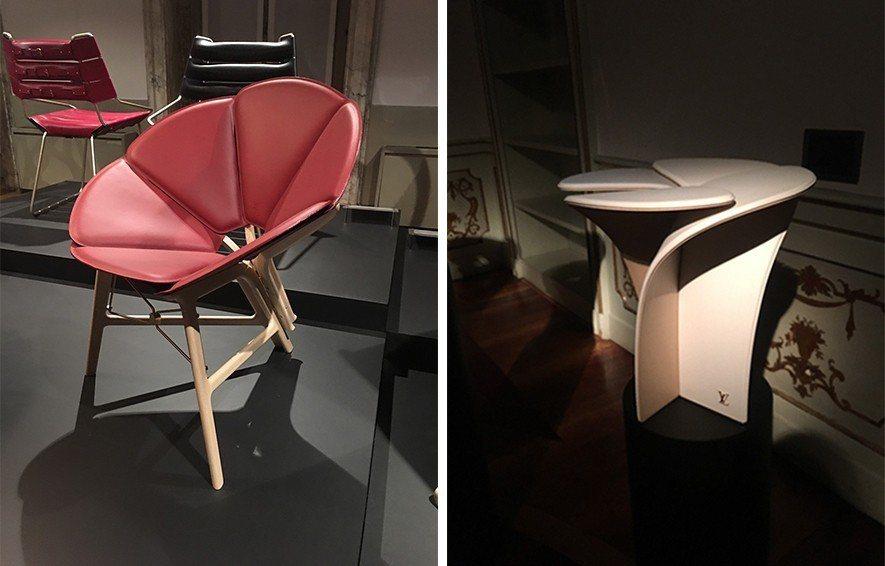 (圖)Raw Edges設計的Concertina摺椅,與吉岡徳仁設計的花瓣造型...
