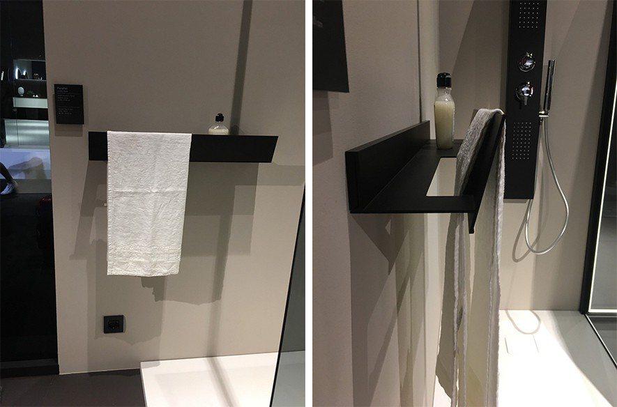 (圖)米蘭家具展廚具衛浴展特別的鐵建置物架
