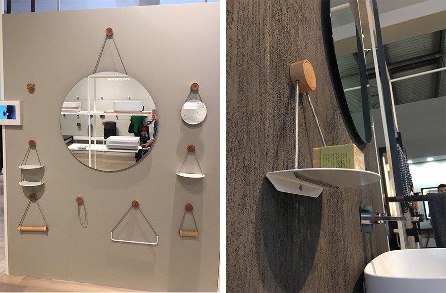 (圖)米蘭衛浴展中簡約的收納設計