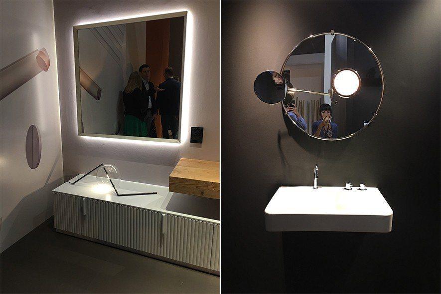 (圖)米蘭衛浴展中巧妙的鏡體設計與波浪紋概念
