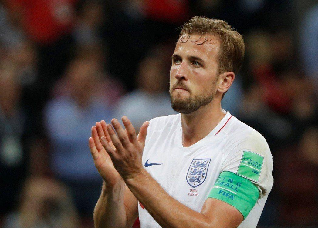英格蘭4強賽不敵克羅埃西亞,隊長凱恩(Harry Kane)難掩失望。 路透社