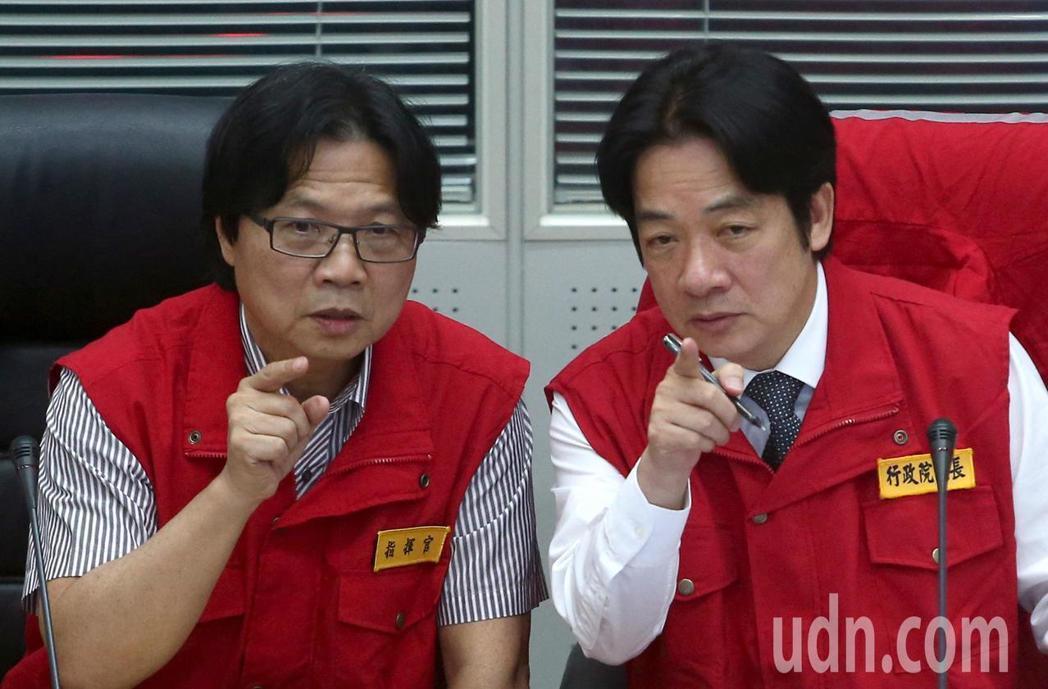 傳出內政部長葉俊榮(左)將接任教育部部長。圖/聯合報系資料照