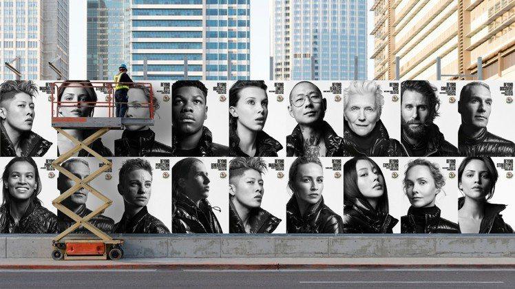 MONCLER 2018全新形象廣告以19名人的黑白攝像為視覺主題。圖/MONC...