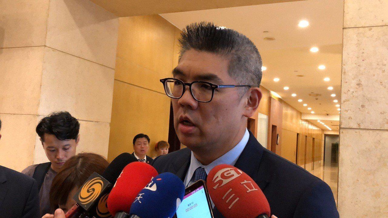 國民黨中央委員連勝文接受訪問。記者許依晨/攝影