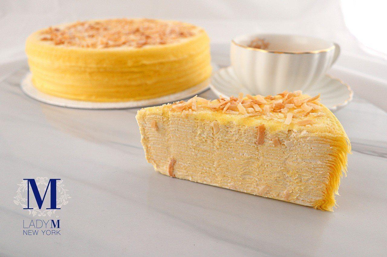椰子千層蛋糕,單片280元、9吋2,800元,旗艦店限定。圖/Lady M提供