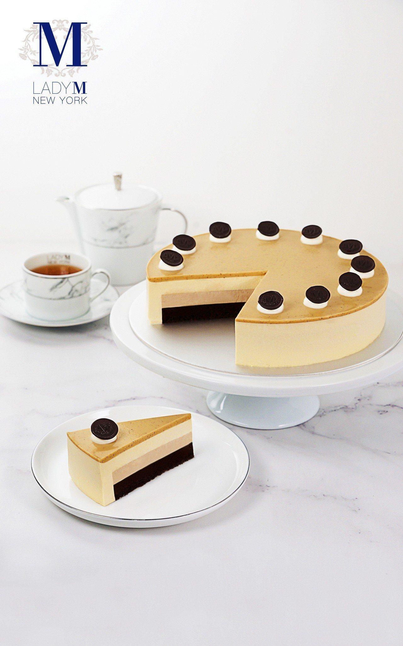 皇家奶茶慕斯蛋糕,單片270元、9吋2,700元,晶華專櫃限定。圖/Lady M...