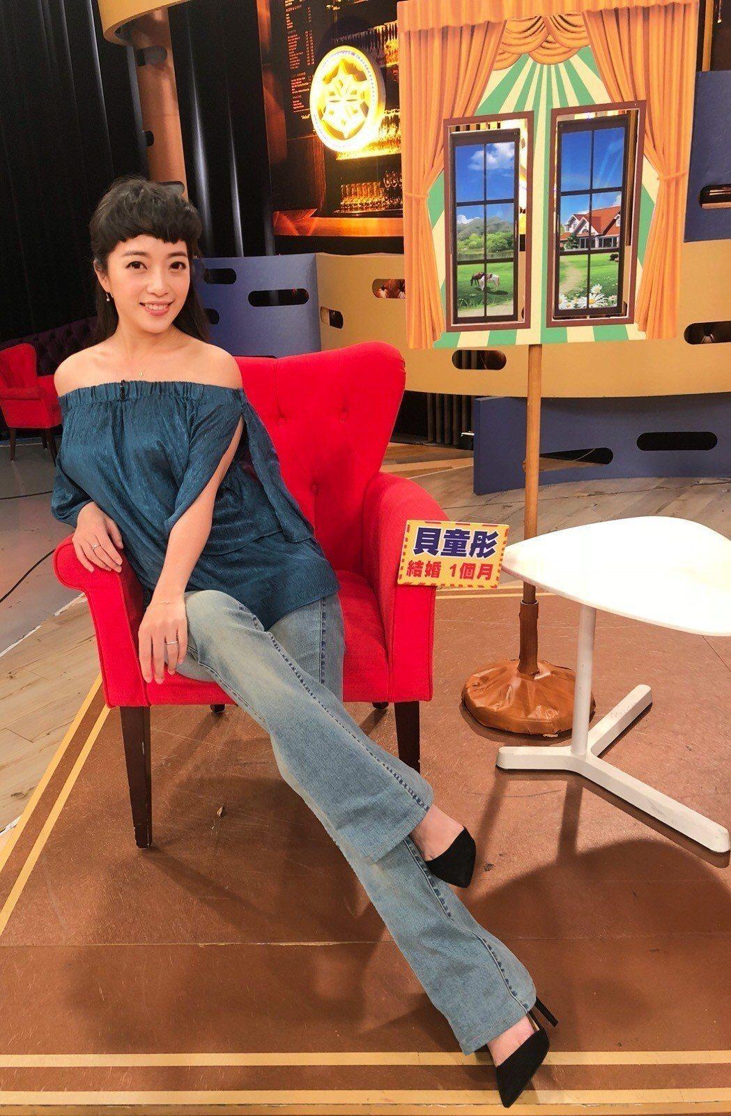 貝童彤今錄衛視中文台「一袋女王」。圖/經紀人提供