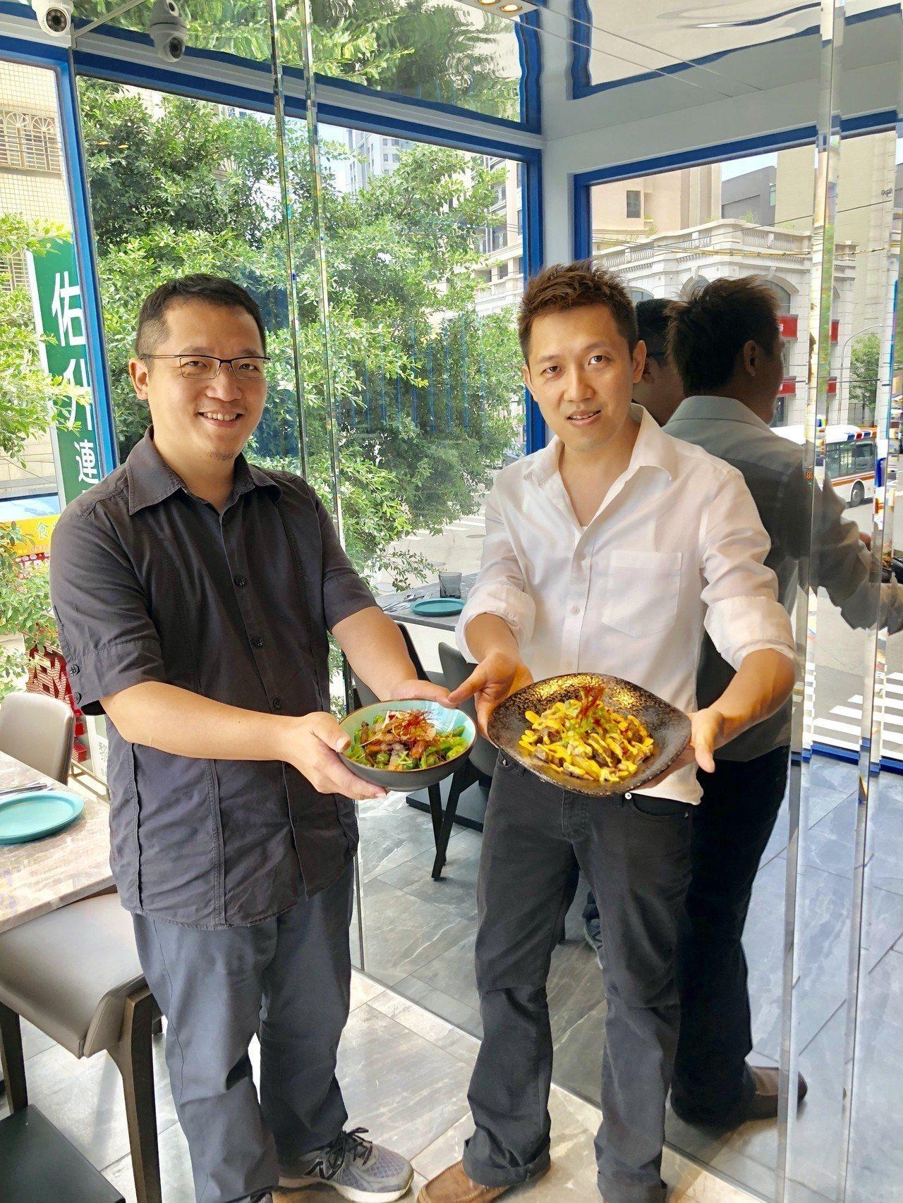 「Tin House」餐廳的設計師紀宜成(左)、主廚紀宜廷(右)是親兄弟。記者宋...