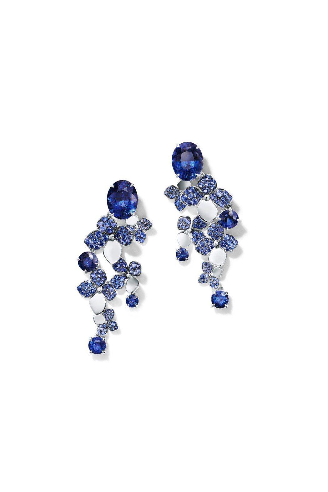 Tiffany 2018 Blue Book系列春季主題,鉑金鑲嵌逾18克拉圓形...