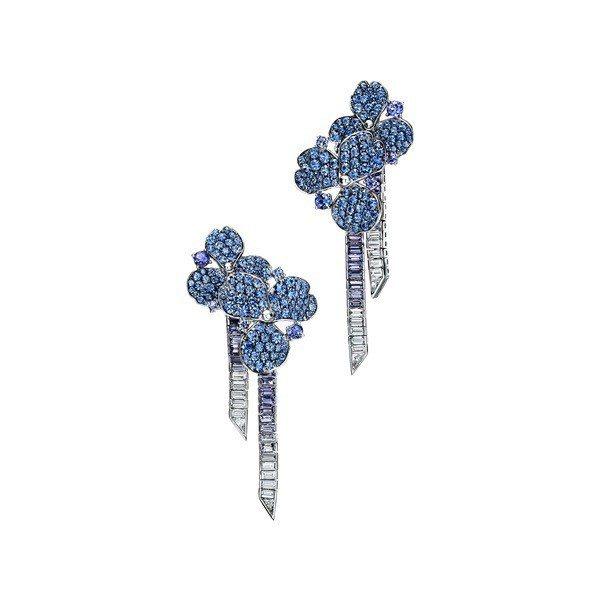Tiffany Paper Flowers高級珠寶系列春季主題,鉑金鑲嵌丹泉石、...