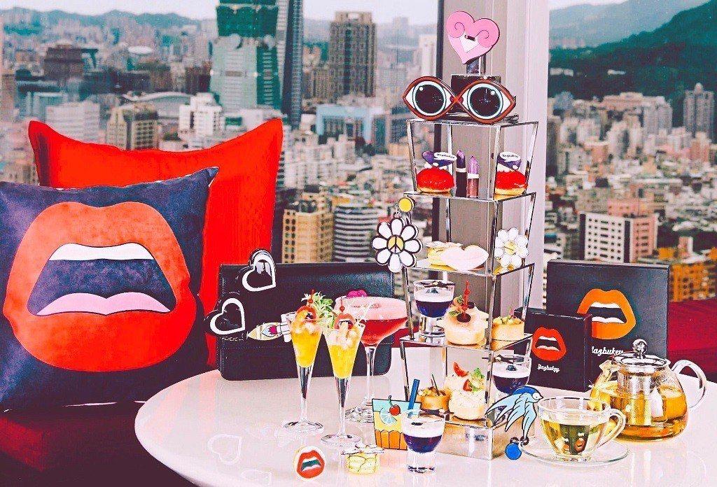 馬可波羅酒廊、Yazbukey聯名午茶,邊吃可邊欣賞101大樓、台北高空美景。圖...