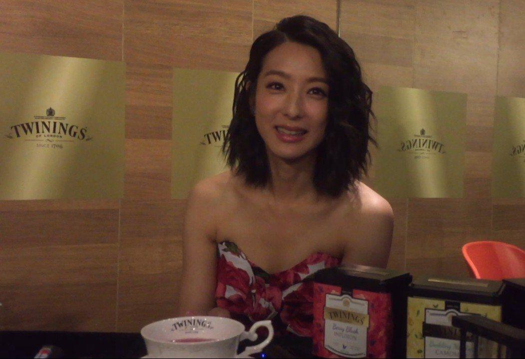 賴雅妍擔任唐寧茶代言人多年,對於泡茶自有一套心得。記者蘇詠智/攝影