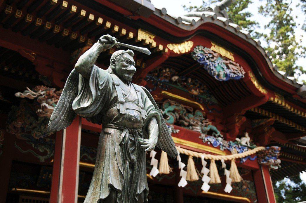 位於東京近郊的高尾山天狗像。圖/有行旅提供