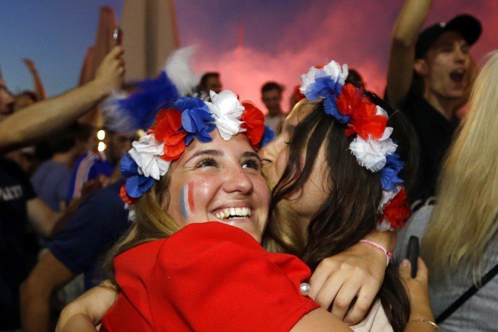 世界盃冠軍戰將由「高盧雄雞」法國對決「格子軍團」克羅埃西亞。 美聯社