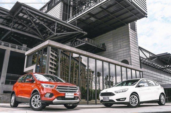福特六和推出Ford Focus(右)及Ford Kuga安全領航版,提供消費者...