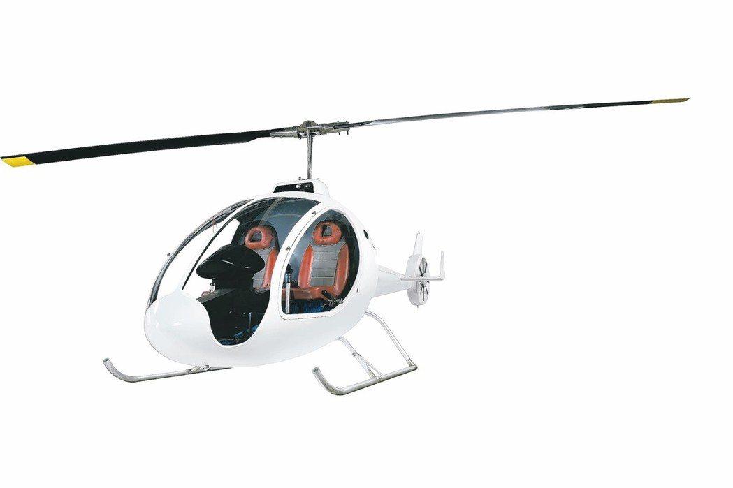主新德科技股份有限公司產製的SMART全碳纖超輕直升機。 主新德科技/提供