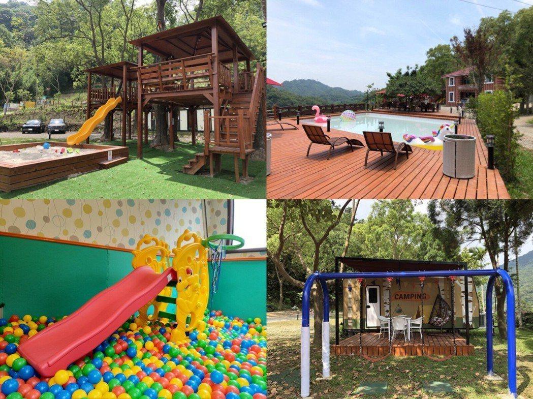 園區內有許多專為親子設計的好玩設施。呼啦莊園露營車渡假村/提供