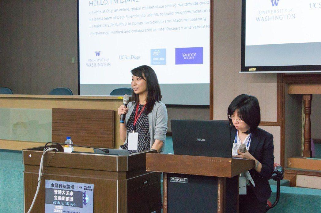 國際講者Dr. Diane Hu(左)、翻譯陳詠卉助理教授(右)。 洪紹晏/攝影