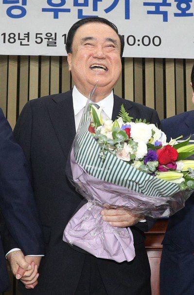 南韓國會議長文喜相。 歐新社