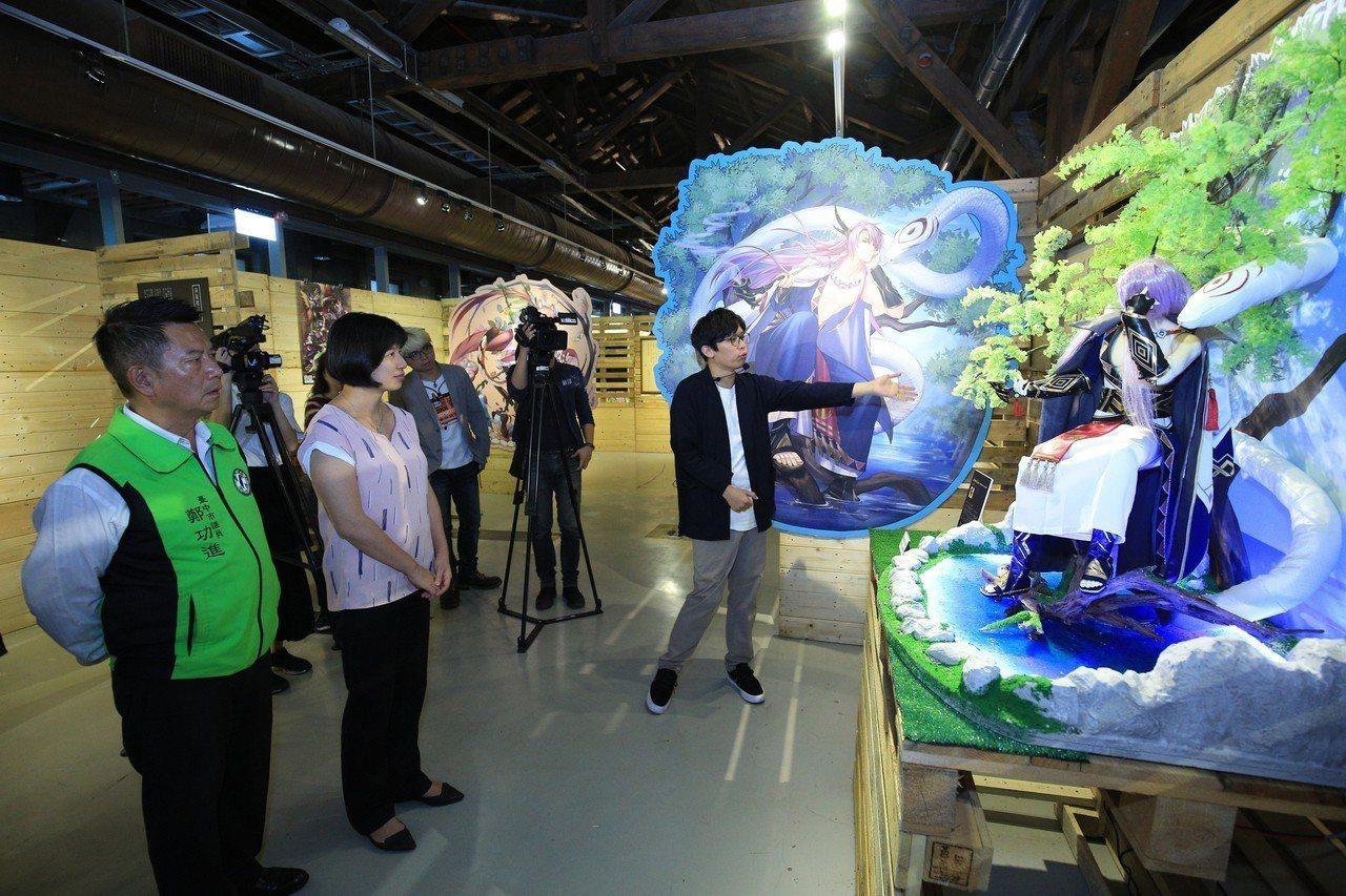 台中市新聞局主辦2018台中國際動漫博覽會,13日在台中文化創意產業園區舉辦開幕...