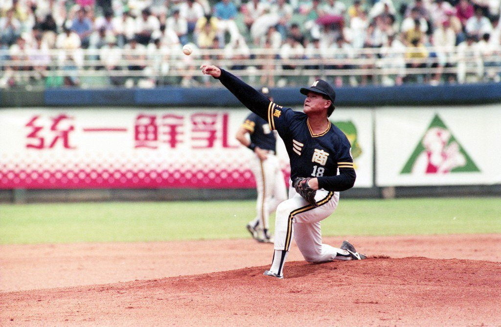 1991年翁豐堉出賽畫面。 圖/聯合報系資料照