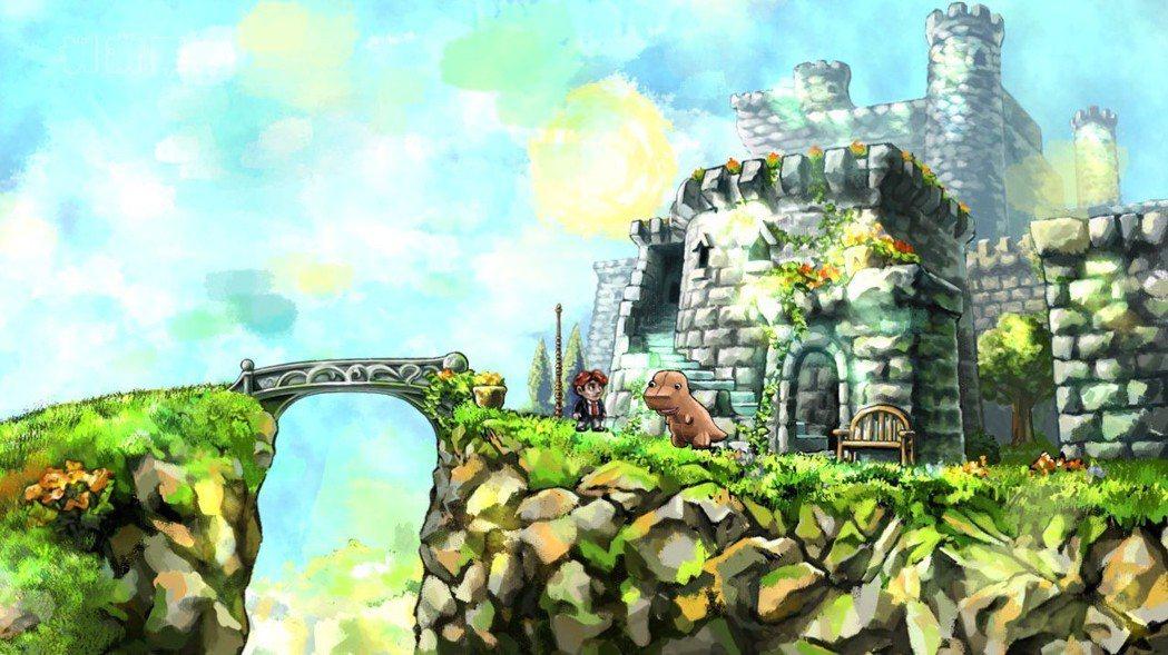 城堡、飄揚旗幟的旗桿,在在都看得出這是製作團隊向瑪利歐致敬的元素。