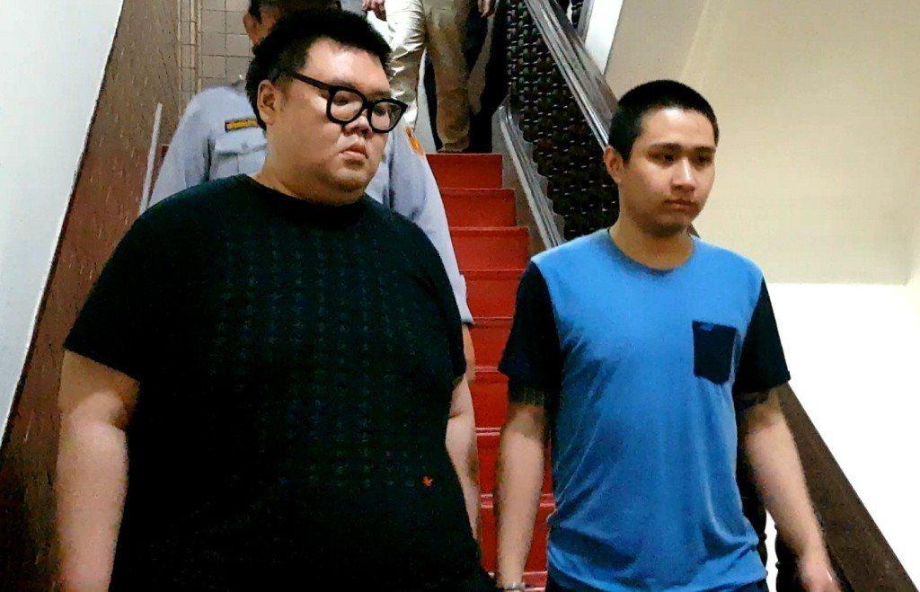 「土豪哥」朱家龍(左)認為郭姓女子的死亡與他無關,並希望國人「珍惜生命、遠離毒品」。本報系資料照/記者王宏舜攝影
