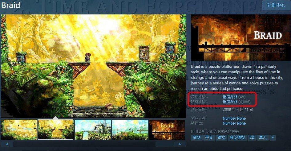 即使已經發售十年,《Braid》依舊是受到玩家極度好評的優質遊戲。