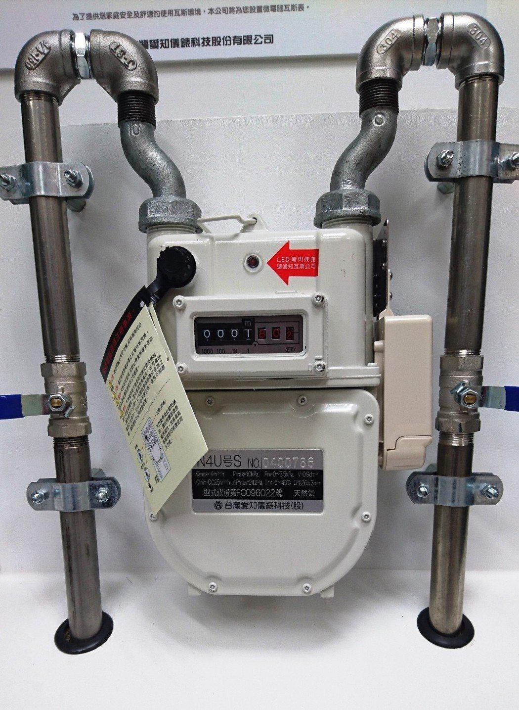 微電腦瓦斯表具有自動遮斷功能,可防止天然氣外洩引發災害。圖/產發局提供
