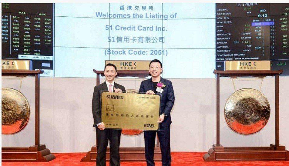 51信用卡CEO孫海濤(右)。華爾街見聞