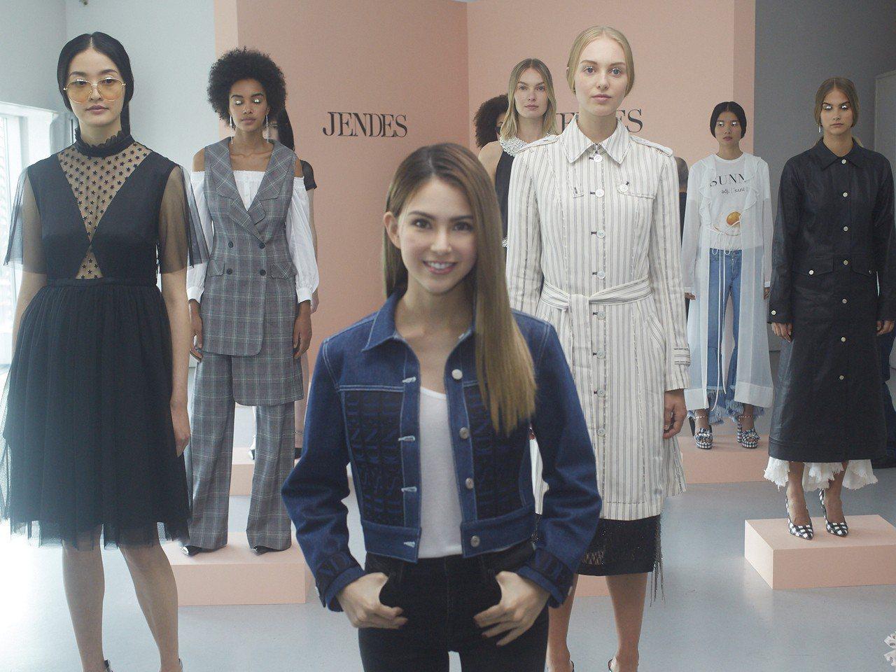 由昆凌為創意總監的女裝品牌JENDES於紐約發表。圖/JENDES提供