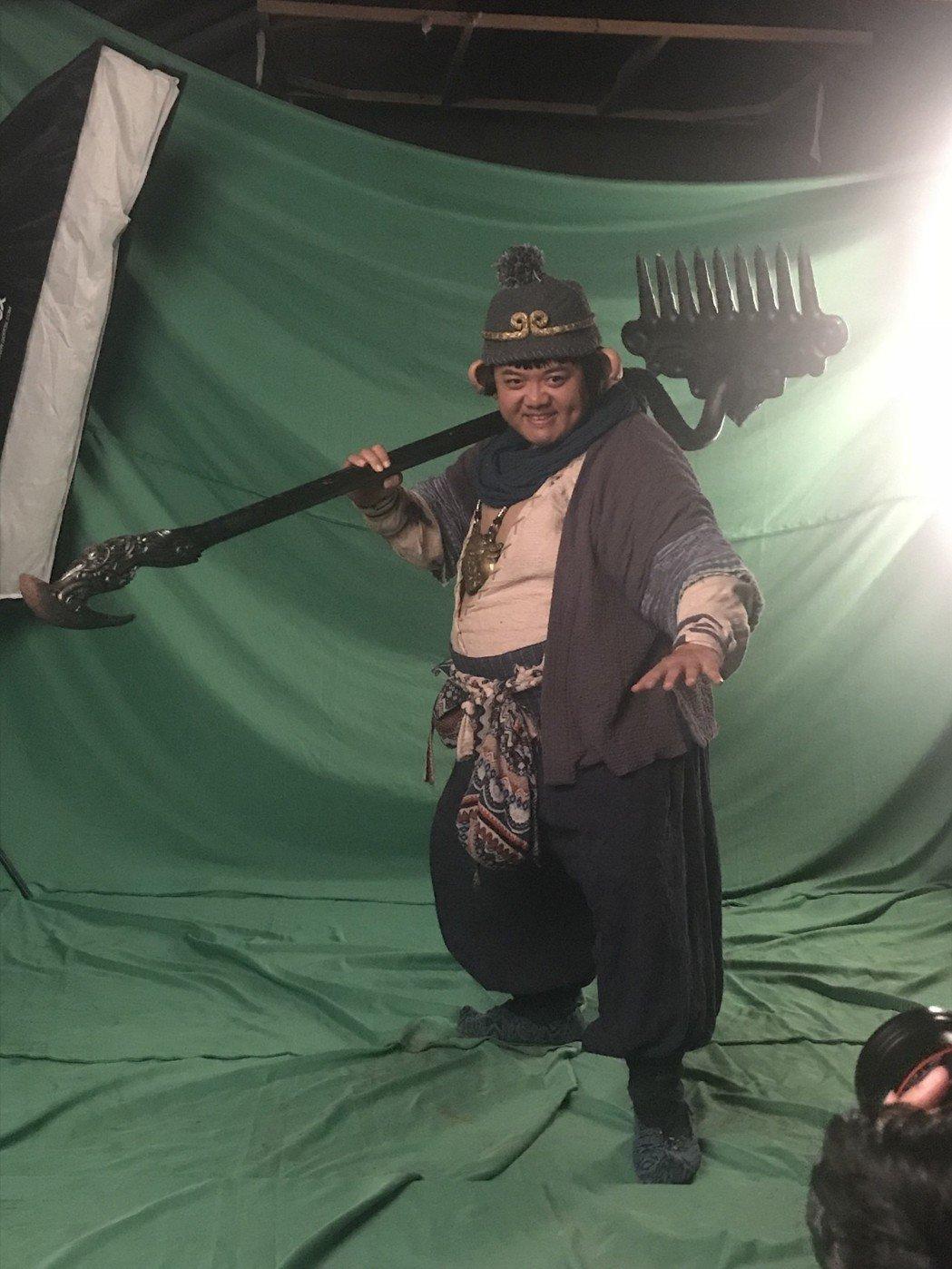林子聰在「齊天大聖-火焰山」飾演豬八戒,肥重造型讓他叫苦連天。圖/艾迪昇提供