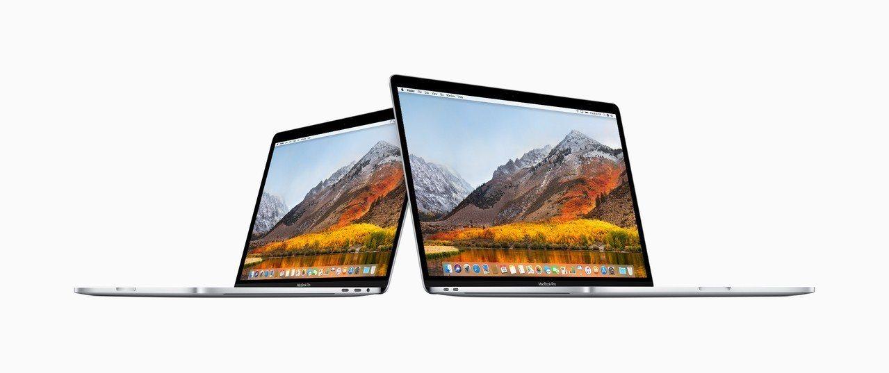 一名攝影師發現MacBook Pro筆電有黑屏狀況。圖/蘋果提供