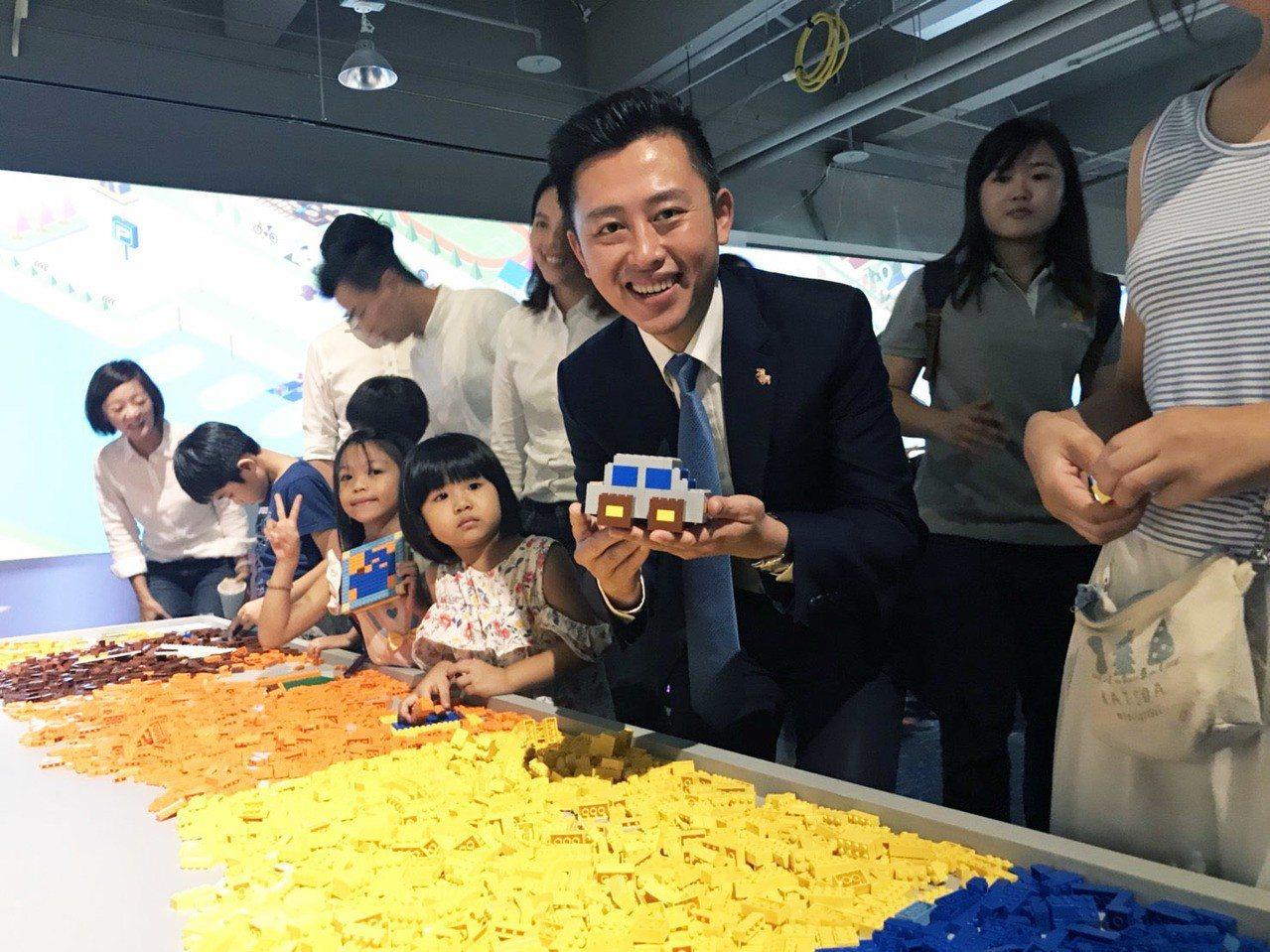 在「自造城市區」有積木遊樂場,很受親子歡迎。記者郭宣彣/攝影