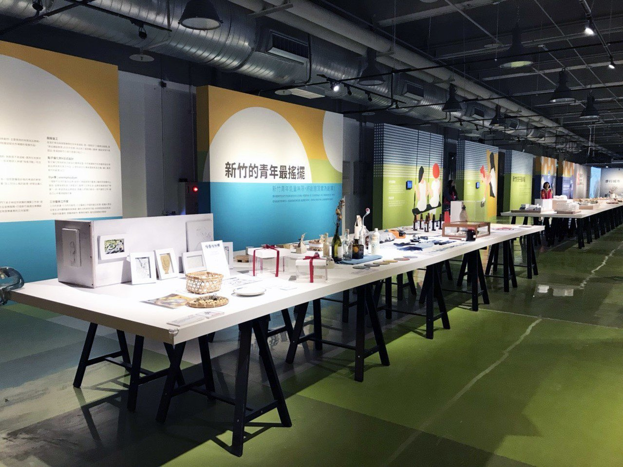 館內設有各種模型,能了解新竹市的發展與脈絡。記者郭宣彣/攝影