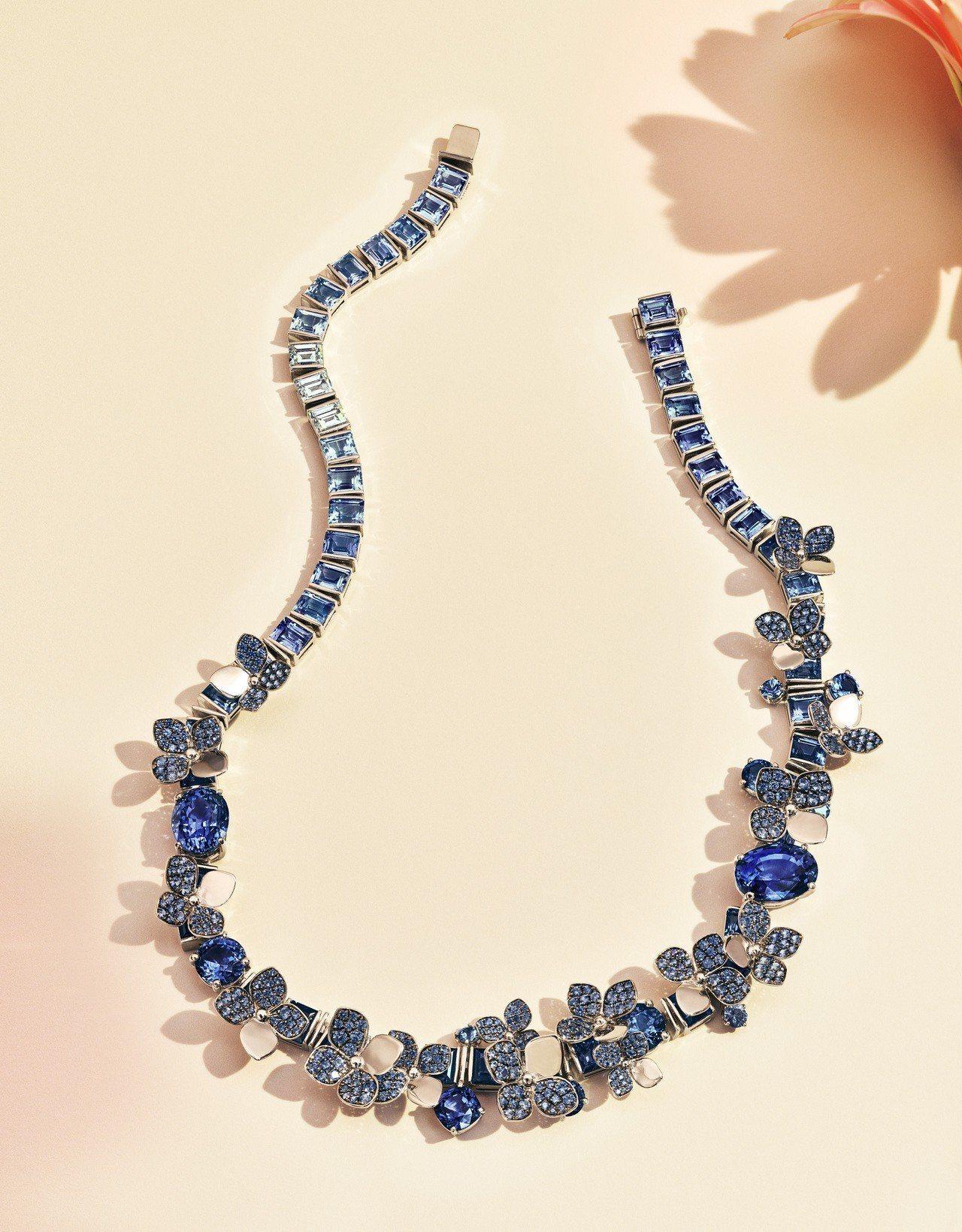 Tiffany 2018 Blue Book系列春季主題,鉑金鑲嵌逾74克拉混合...